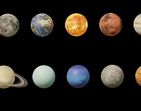 3D asset Photorealistic Solar System