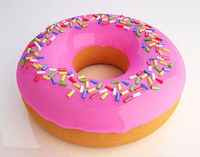 Donut 3D model baked
