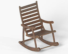 Retro rocking chair 3D model