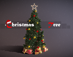 3D asset Christmas Tree Game Ready