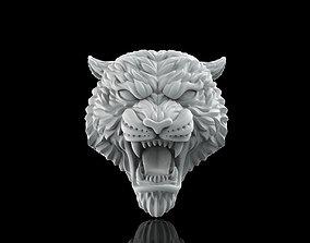 Tiger face 3D print model