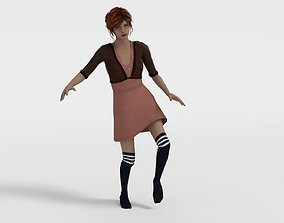 Girl Abigail Game model 3D asset