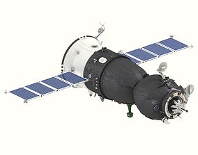 station 3D model Spaceship Soyuz TMA