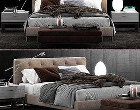3D model Minotti Andersen Bed Quilt