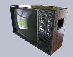 3D asset realtime Vintage TV