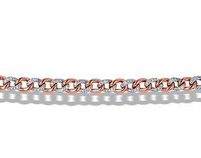 3D printable model Cuba Chain Small Charm Bracelets