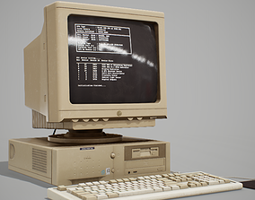 90s Pc Desktop style 02 3D model