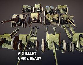 Artillery 3D asset