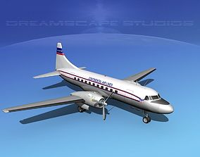 3D Convair CV-340 Continental