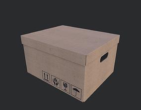 3D model low-poly PBR Cardboard Box 01