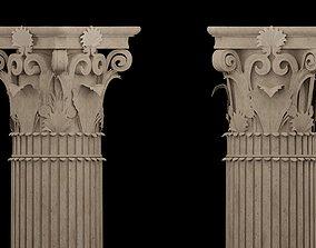 3D model realtime Corinthian column