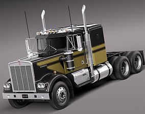 3D Kenworth W900 1974 Smokey And The Bandit