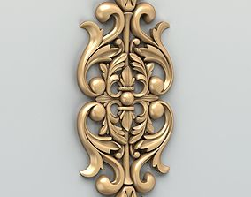 Carved decor central 014 3D model