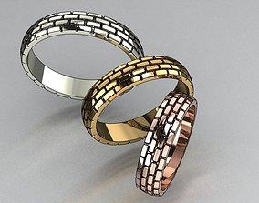 Rings brick texture 3 sizes 3D print model