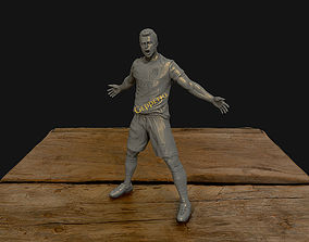 3D print model Christiano Ronaldo celebration juventus kit