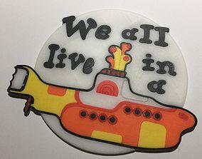 3D print model The Beatles Yellow Submarine Coaster