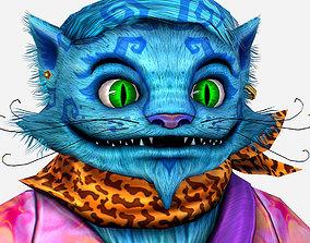 Very Fashionable Cat in a Hawaiian Shirt 3D asset