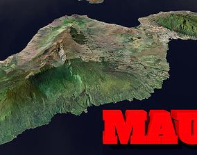 Maui Island 3D asset