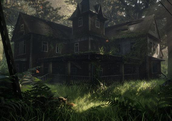 "Scene - Abandoned House ""Overgrown"""