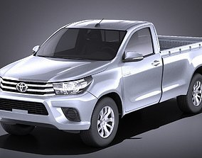 Toyota Hilux Single Cab 2017 VRAY 3D