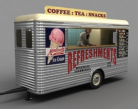 Mobile Refreshment Cart 1960 3D