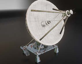 communication satellite dish 3D model