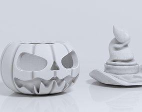 pumpkin and hat 3D printable model