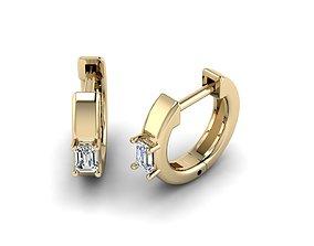 Jewelry Earrings 3x2 Emerald 3D print model