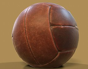 Dark Leather Ball Weight Lifting Training 3D model