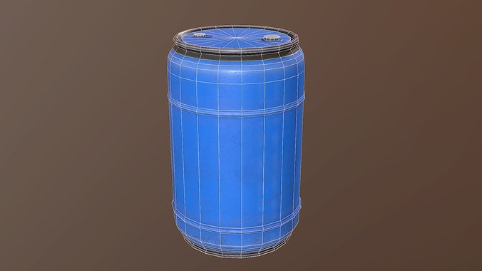 blue-plastic-drum-pbr-game-ready-3d-mode