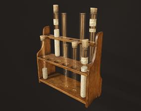 Test Tube Rack - PBR Game Ready 3D asset