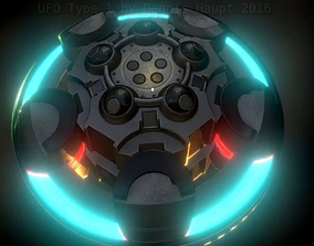 UFO Type 1 Animated and Game Ready 3D asset game-ready