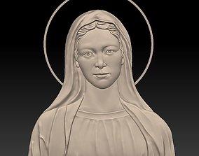 Saint Mary - relief - 2017 saint-mary 3D print model