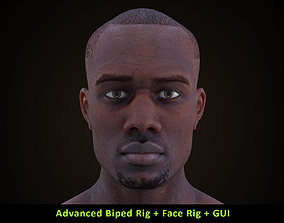 Cinematic Male 002 - Advanced Body Rig - Face 3D model 2