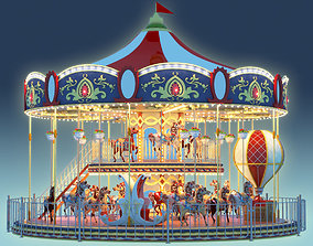 3D model Carousel 02 Carrousel Elements architecture ride