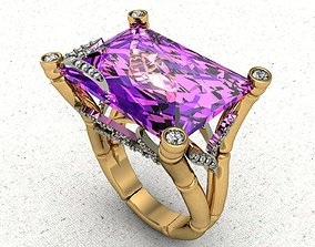 jewelry 3D print model bamboo ring