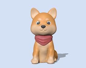 Cute Shiba Inu 3D printable model