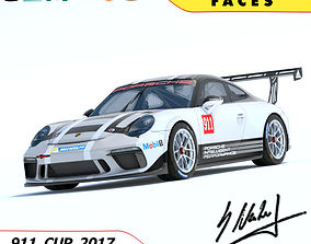 3D model Porsche 911 Cup 2017