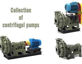 Collection of Centrifugal Pumps V1 3D