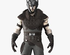 3D asset Warrior Rigged