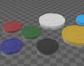 Set of 3D printable poker chips