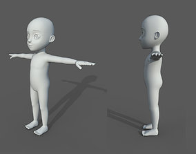 3D asset Base mesh boy character 1