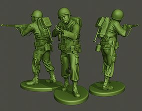 American soldier ww2 Shoot Stand A3 3D print model