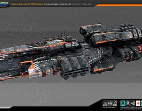 3D asset Federation Frigate K7