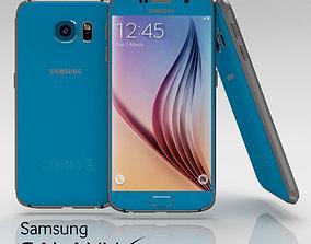 3D model Samsung Galaxy S6 Topaz Blue