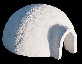 3D asset low-poly Igloo