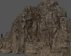 Mountain 3D model realtime mossy