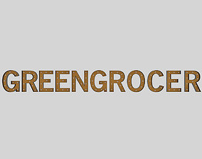 Green Gracor Sign With Bulb wall 3D