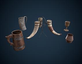 3D model Viking Drinking Items