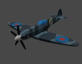 Spitfire Plane Game Assets Low Poly 3D model
